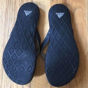 adidas Shoes - Adidas black flip flops size 6